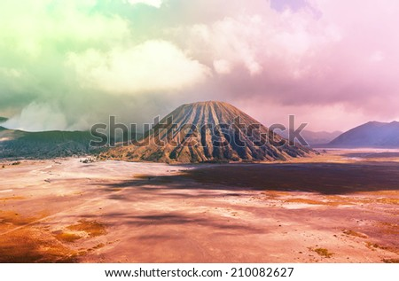 Bromo Volcano at  Java, Indonesia - stock photo