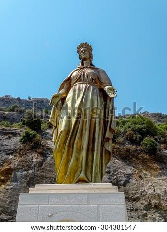 bronze Blessed Virgin Mary - stock photo