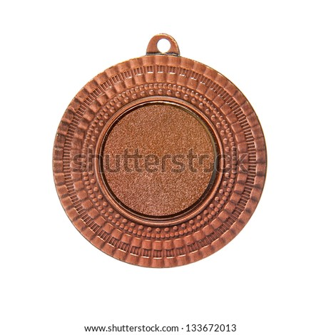 Bronze medal isolated with - stock photo
