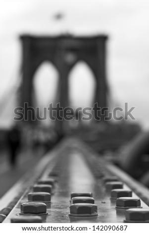 Brooklyn Bridge, New York, USA - stock photo