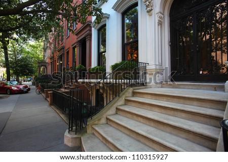 Brooklyn Heights/Views of Brooklyn Heights, Brooklyn's oldest & most historic neighborhood - stock photo