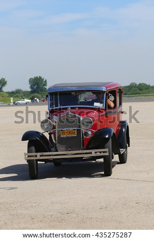 BROOKLYN, NEW YORK - JUNE 8, 2014: Historical 1931 Ford at the Antique Automobile Association of Brooklyn annual Spring Car Show in Brooklyn, New York  - stock photo