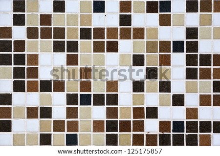 Broun Mosaic Tiles - stock photo