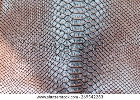 brow snakeskin pattern texture background - stock photo