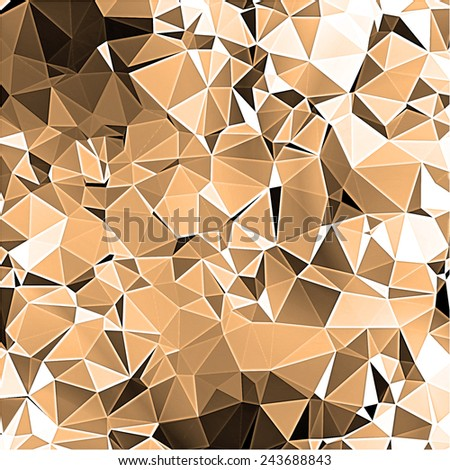 brown Abstract background with triangle pattern - stock photo