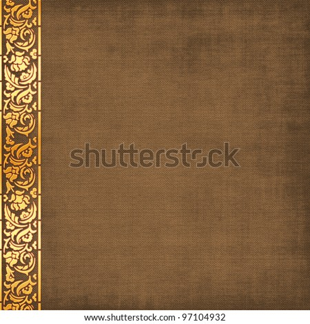 Brown album page, vintage background - stock photo