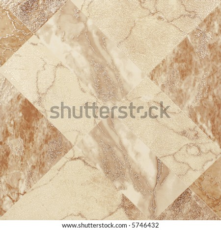 Brown and beige ceramic tile - stock photo