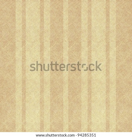 brown and cream wallpaper background illustration with linen or parchment scratch textured ribbon stripes - stock photo
