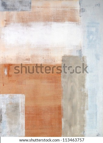 Brown and Grey Abstract Art Painting - stock photo