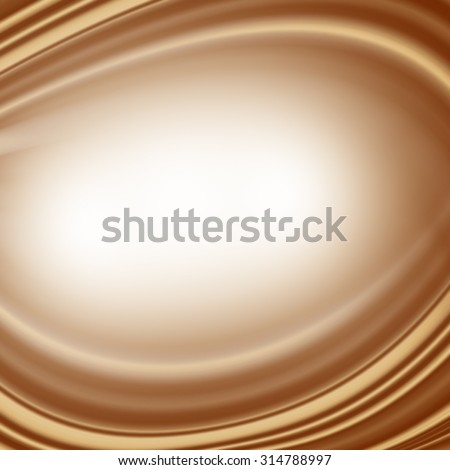 brown background abstract swirl cream or white chocolate or coffee with milk decorative satin background copyspace - stock photo