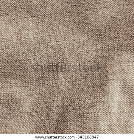 brown background old canvas fabric texture background - stock photo