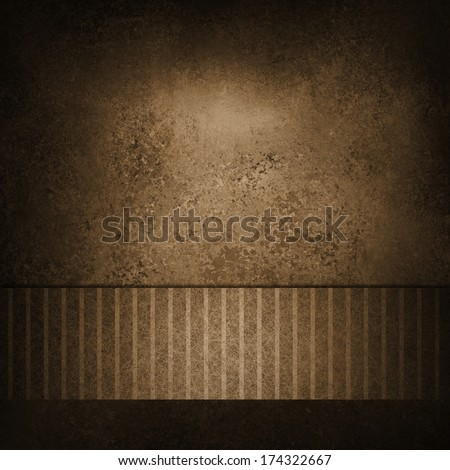 brown background or sepia color background or paper of vintage background texture for country western announcements or posters, brown pinstripe ribbon for title or website banner template backdrop - stock photo