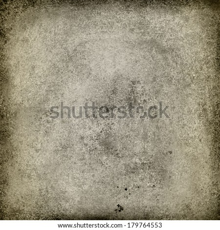 brown background paper with old distressed vintage grunge background texture and dark black grungy border, beige or cream color paint with gray stains, brown web background design, brown brochure ad - stock photo