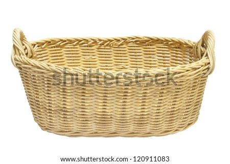 Brown basket isolated. - stock photo