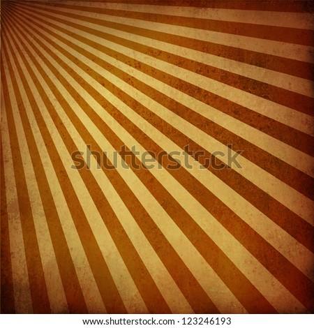 brown beige background retro striped layout, sunburst abstract background texture grunge pattern, vintage grunge background sunrise design, nostalgic retro design, natural warm brown country style - stock photo