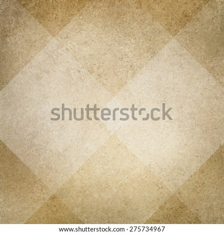 brown beige background, white diamond abstract design, vintage texture - stock photo