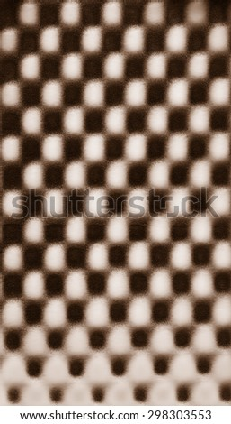 Brown beige chocolate abstract pattern foam chess texture background pattern - stock photo