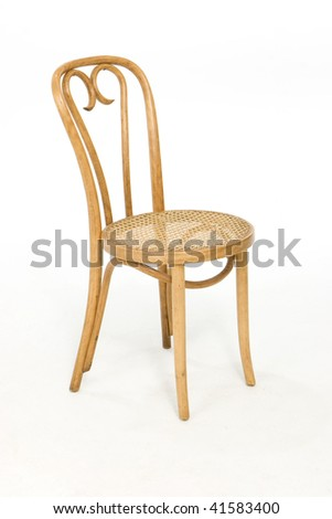 Brown Bentwood Chair - stock photo