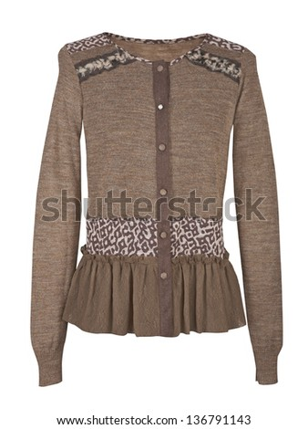 brown blouse - stock photo