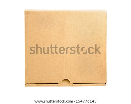 Brown box isolated on white background with clipping path - stock photo