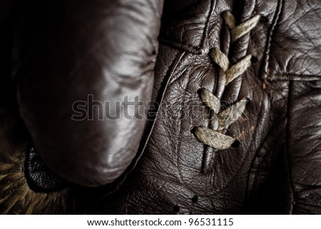 Brown boxing gloves - stock photo