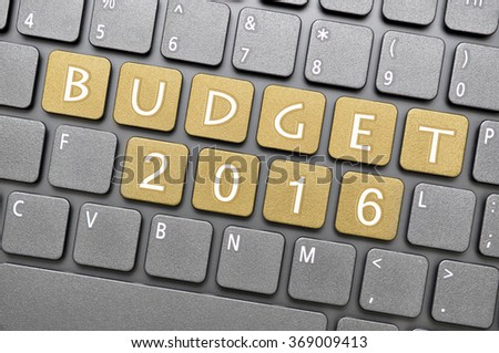 Brown budget 2016 key on keyboard - stock photo