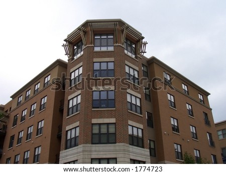 Brown building - stock photo