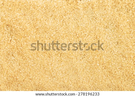 Brown cane sugar - stock photo