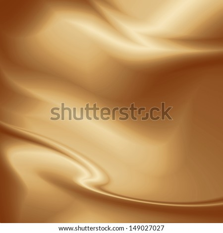 brown chocolate background for coffee advertising, smooth silk fabric texture  - stock photo