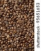 Brown Coffee Beans - stock photo