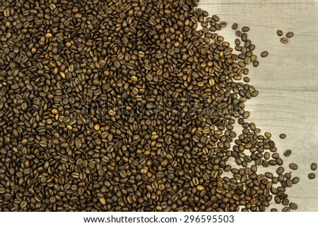 Brown coffee beans, coffee beans for background and texture - stock photo