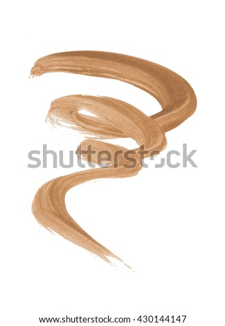 Brown color eyeliner brush paint on background - stock photo