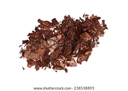 Brown Color Eyeshadow - stock photo