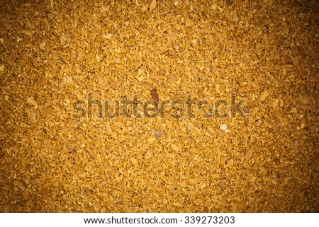 Brown cork board background texture. - stock photo