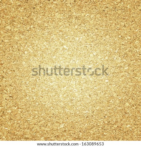 Brown Cork board with light center - stock photo