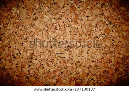 Brown cork mat as abstract texture background composition, top view above. Grungy background - stock photo