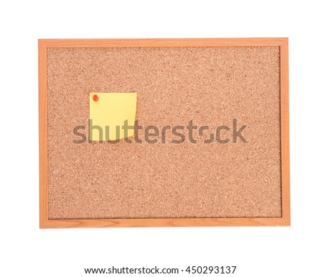 Brown cork pin board frame isolate on white background - stock photo