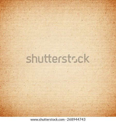 Brown corrugated cardboard paper texture - stock photo