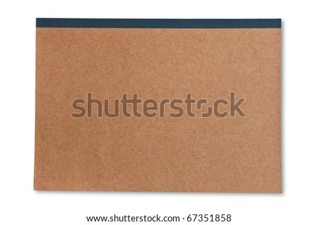 brown cover notebook recycle paper - stock photo