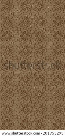 brown decorative wall tiles - stock photo