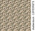 Brown desert colored military camouflage texture that tiles seamlessly as a pattern in any direction. - stock photo