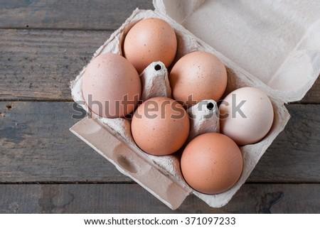 Brown Eggs - stock photo