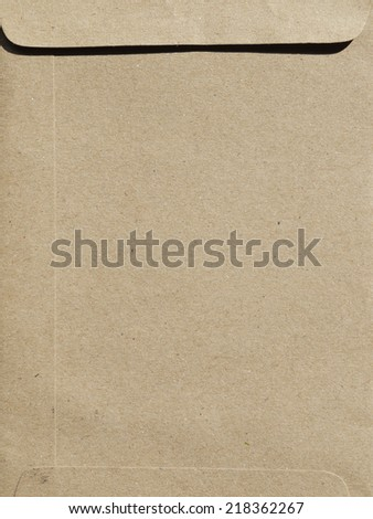 Brown Envelope document  - stock photo