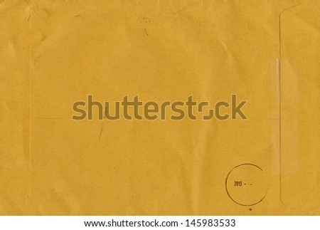Brown Envelope document, close up - stock photo