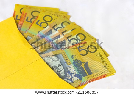 Brown Envelope with Cash for a Politician - stock photo