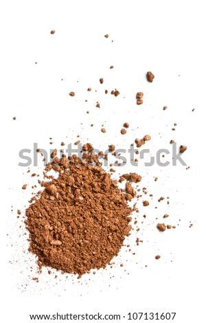 Brown Face Powder - stock photo