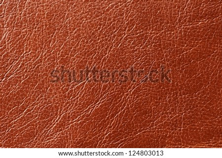 Brown Glossy Artificial Leather Texture - stock photo