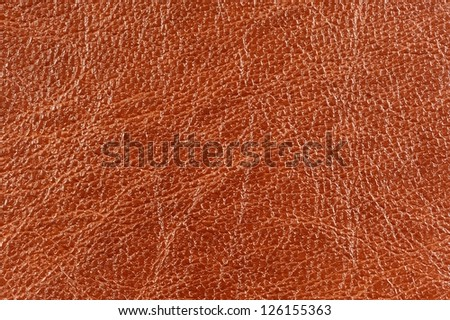 Brown Glossy Patterned Artificial Leather Texture - stock photo