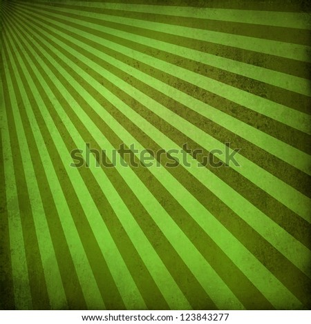 brown green background retro striped layout, sunburst abstract background texture pattern, vintage grunge background sun ray design old faded summer background with natural eco colors for rich paper - stock photo