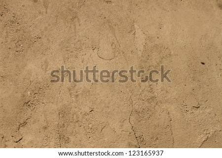 Brown ground texture. - stock photo